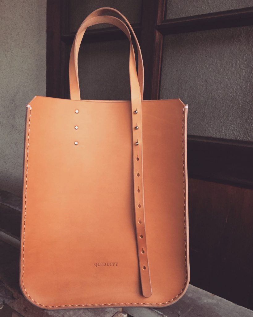 Structured Minimalist Leather Tote Bag