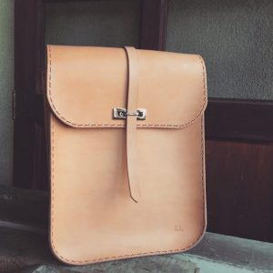 structured leather backpack